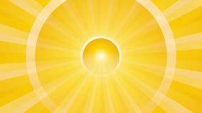 Fondo abstracto con los círculos giratorios amarillos