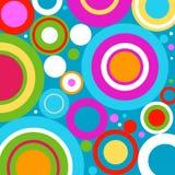Fondo abstracto con los círculos retros Fotografía de archivo libre de regalías