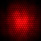 Fondo abstracto con los círculos rojos Foto de archivo