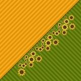 Fondo abstracto con los campos y los girasoles coloridos Foto de archivo libre de regalías