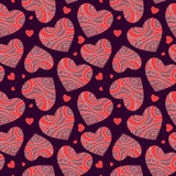 Fondo abstracto con los corazones Foto de archivo libre de regalías