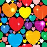Fondo abstracto con los corazones multicolores Foto de archivo libre de regalías