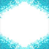 Fondo abstracto con los cristales azules Fotos de archivo libres de regalías