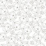 Fondo abstracto con los cristales del marco Modelo inconsútil de la geometría para la materia textil, papel pintado, papel de emb Fotografía de archivo libre de regalías