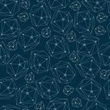 Fondo abstracto con los cristales del marco Modelo inconsútil de la geometría para la materia textil, papel pintado, papel de emb Imagen de archivo libre de regalías