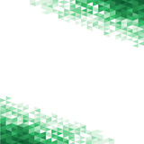Fondo abstracto con los cristales verdes ilustración del vector