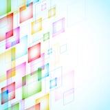 Fondo abstracto con los cuadrados Imagenes de archivo