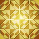 Fondo abstracto con los cuadrados de oro Foto de archivo