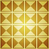 Fondo abstracto con los cuadrados de oro Imagenes de archivo