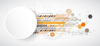 Fondo abstracto con los diversos elementos tecnológicos stock de ilustración