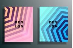Fondo abstracto con los elementos coloreados, 3d que acoda conjunto Fotos de archivo
