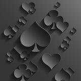 Fondo abstracto con los elementos de los naipes stock de ilustración
