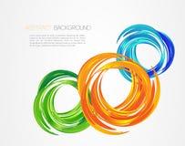Fondo abstracto con los elementos del diseño Imágenes de archivo libres de regalías