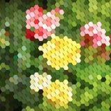 Fondo abstracto con los elementos geométricos Imagen de archivo libre de regalías