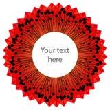 Fondo abstracto con los elementos rojos en blanco Stock de ilustración