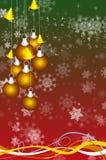 Fondo abstracto con los juguetes del Año Nuevo Imagen de archivo libre de regalías