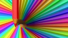 Fondo abstracto con los lápices coloreados Imágenes de archivo libres de regalías
