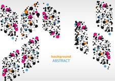 Fondo abstracto con los modelos geométricos, para la página web y el diseño Imágenes de archivo libres de regalías