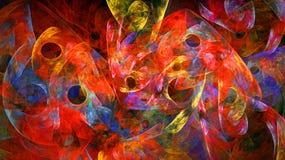 Fondo abstracto con los pequeños círculos Fotografía de archivo libre de regalías