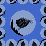 Fondo abstracto con los pescados Foto de archivo