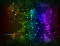 Fondo abstracto con los polígonos coloridos Fotografía de archivo