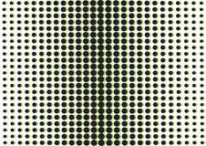 Fondo abstracto con los puntos negros y verdes, estilo del arte pop Vector libre illustration