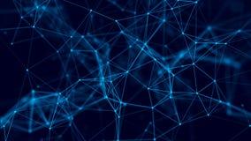 Fondo abstracto con los puntos y las l?neas de conexi?n Estructura de la conexi?n de red representaci?n 3d stock de ilustración