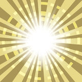Fondo abstracto con los rayos radiales Fotos de archivo libres de regalías
