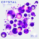 Fondo abstracto con los shperes cristalinos ilustración del vector