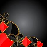 Fondo abstracto con los trajes de la tarjeta para el diseño. Imagen de archivo libre de regalías