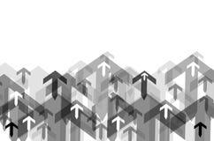 Fondo abstracto con muchas flechas Imagen de archivo