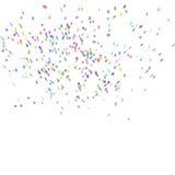 Fondo abstracto con muchos confeti que cae Foto de archivo
