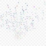 Fondo abstracto con muchos confeti que cae Imagen de archivo