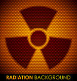 Fondo abstracto con s?mbolo de la radiaci?n. Fotos de archivo