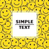 Fondo abstracto con sonrisas sonrientes amarillas y el marco blanco Ilustración del vector ilustración del vector