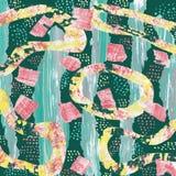 Fondo abstracto con un collage de elementos multicolores ilustración del vector
