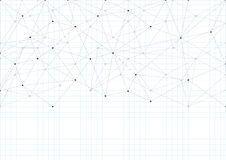 Fondo abstracto con un modelo de líneas y de puntos Una hoja de los cuadernos de la escuela Hoja blanca del papel Imagenes de archivo