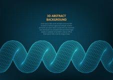 Fondo abstracto con un objeto volumétrico en la superficie stock de ilustración
