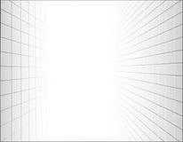 Fondo abstracto con una rejilla de la perspectiva Foto de archivo