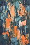 Fondo abstracto contemporáneo de la pintura al óleo Foto de archivo libre de regalías