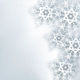 Fondo abstracto creativo elegante, copo de nieve 3d stock de ilustración