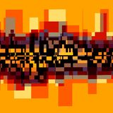Fondo abstracto creativo - paisaje de la ciudad Foto de archivo