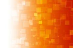 Fondo abstracto cuadrado anaranjado ilustración del vector