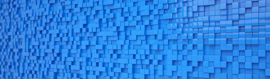 Fondo abstracto - cubos - azul Imagenes de archivo