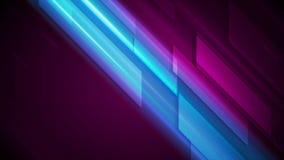 Fondo abstracto de alta tecnología azul marino y púrpura del movimiento que brilla intensamente stock de ilustración