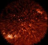 Fondo abstracto de alta tecnología conceptual de la textura del orbe siniestro rojo del espacio imágenes de archivo libres de regalías
