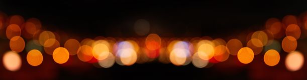 Fondo abstracto de Bokeh del panorama en la noche imágenes de archivo libres de regalías