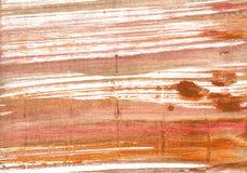 Fondo abstracto de cobre amarillo antiguo de la acuarela fotografía de archivo