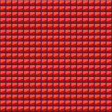 Fondo abstracto de cuadrados rojos volumétricos ilustración 3D Un modelo de cuadriláteros con brillo Incluso mosaico wallpapers stock de ilustración