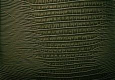 Fondo abstracto de cuero verde Fotos de archivo